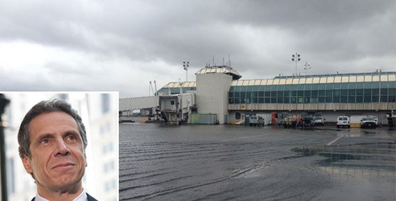Andrew Cuomo and LaGuardia Airport during Hurricane Sandy
