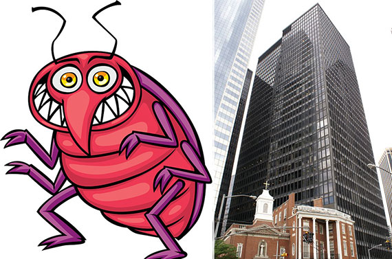 From left: Bedbug and One State Street Plaza