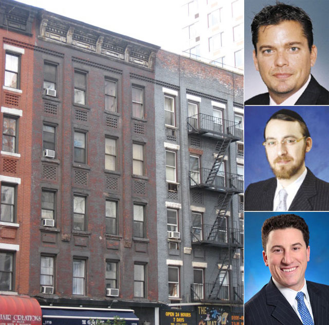 Clockwise from top left: 1715 First Avenue (center), Thomas Gammino, Lipa Lieberman and David Schechtman