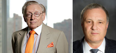 From left: Larry Silverstein and Udi Erez