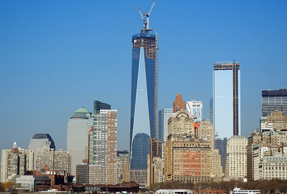 One World Trade Center against the FiDi skyline