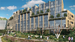 A rendering of Pierhouse at Brooklyn Bridge Park
