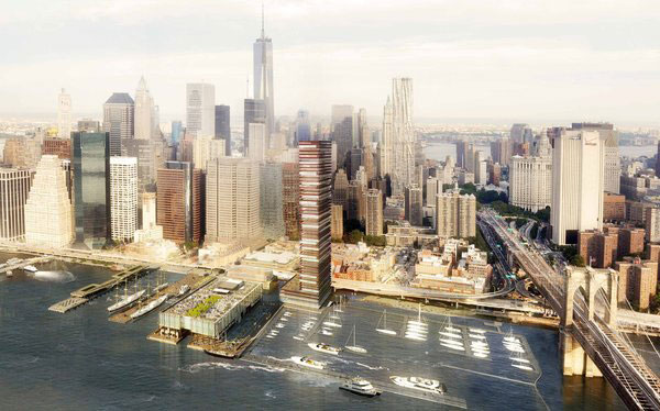 Rendering of the South Street Seaport tower