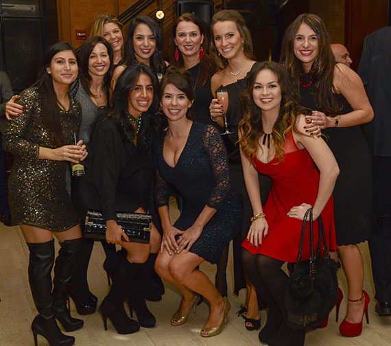 From left: Marley Frankel of Platinum Properties, Elise Levy of Guaranteed Rate, Stephanie Supancic, Nilu Amin, Dezireh Eyn, Stephanie Runow,  Teresa Stephenson, Julia Bryzgalina, Melanie Kohler and Courtney Younghourse of Platinum Properties