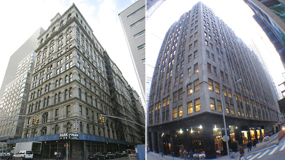 From left: 346 Broadway and 66 John Street