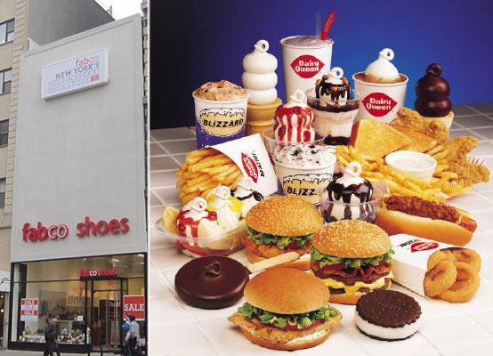 From left: 54 West 14th Street and goodies from Dairy Queen