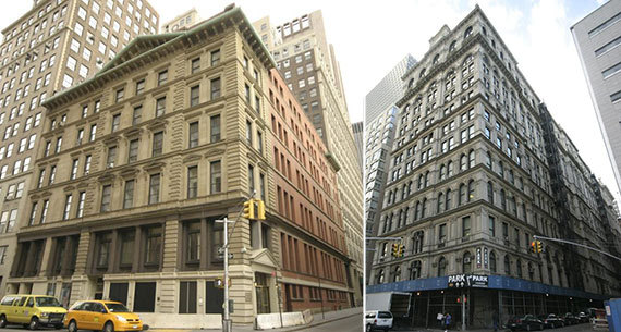 From left: 71 Thomas Street and 346 Broadway