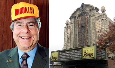 Marty Markowitz and the Loew's Kings Theatre in Flatbush