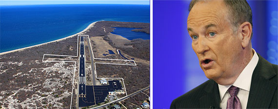 An aerial view of Montauk and Bill O'Reilly
