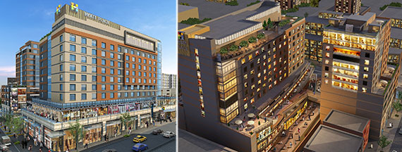 Renderings of One Fulton Place