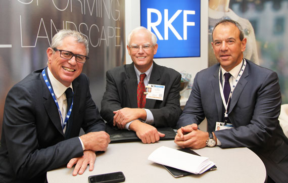 From left: Robert Futterman of RKF, Fred Van Wagenen of Jamestown and Jeff Fishman of RKF