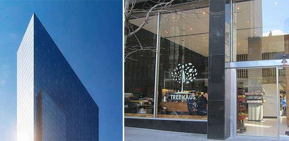 MiMa tower at 450 West 42nd Street and Treehaus at 830 Third Avenue