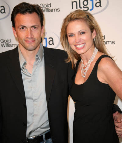 From left: Andrew Shue and Amy Robach