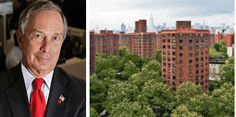 Michael Bloomberg and NYCHA's Baruch Houses on the Lower East Side