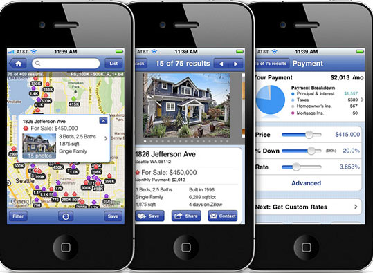 Real estate apps on the iPhone
