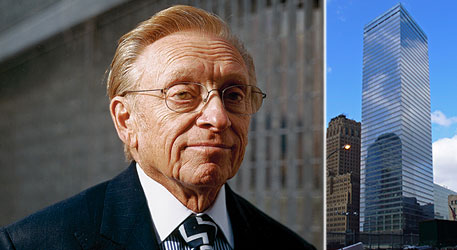 From left: Larry Silverstein and the new 7 World Trade Center