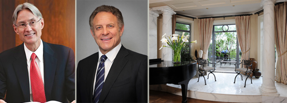 Dennis Stattman, Stephen Meringoff and the One Beekman Place pad