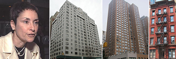 From left: Justice Shirley Werner Kornreich, 145 East 16th Street, 155 East 31st Street and 17 Stuyvesant Street