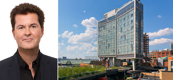 From left: Simon Fuller and the Standard High Line at 848 Washington Street