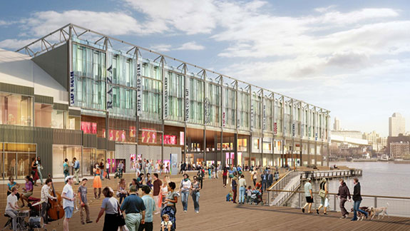 Rendering of South Street Seaport's Pier 17