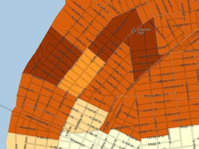 U.S. Census data on income in Williamsburg