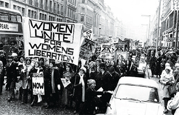 Women's lib rally circa 1971