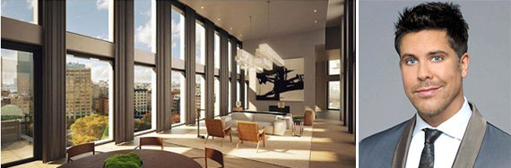 The penthouse at Tribeca's 11 North Moore Street and Fredrik Eklund
