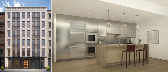 Exterior and interior shots of Reade Chambers at 71 Reade Street