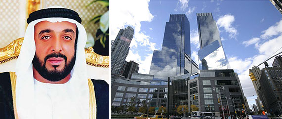 Sheikh Khalifa bin Zayed Al Nahyan, chairman of ADIA, and Time Warner Center