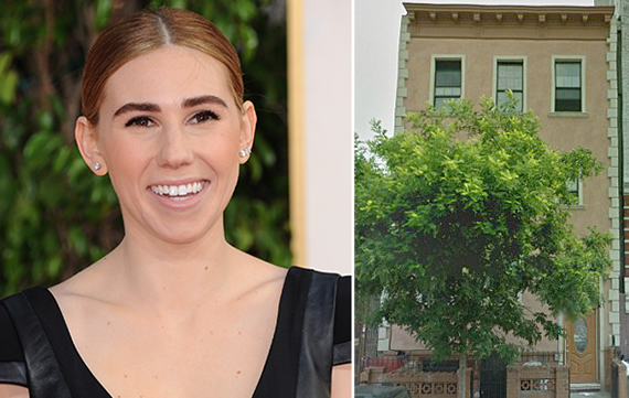 From left: Zosia Mamet and her new Bushwick digs