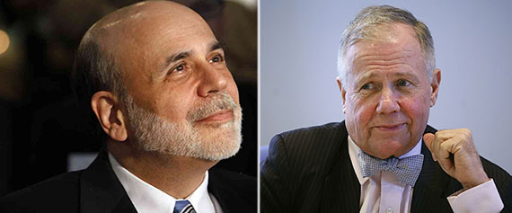 From left: Ben Bernanke and Jim Rogers