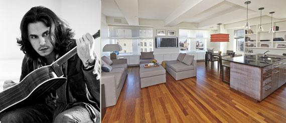 John Mayer and the 225 Lafayette Street pad