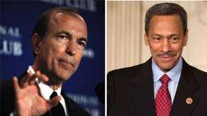 From left: Scott Garrett and Mel Watt