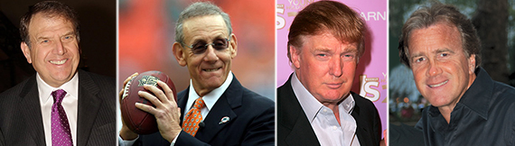 From left: Richard LeFrak, Stephen Ross, Donald Trump and Jeff Sutton