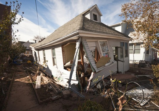 A NYC home damaged by Hurricane Sandy