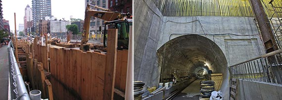 Second Avenue subway construction
