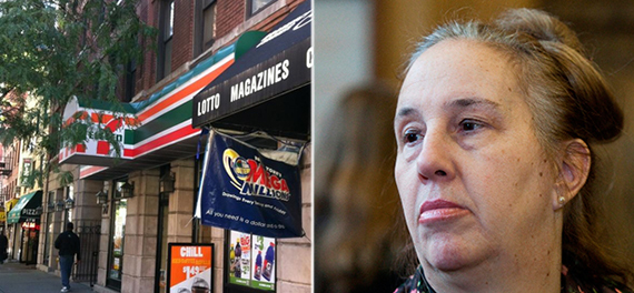 From left: A 7-Eleven on 3rd Avenue in Gramercy and Manhattan Borough President Gale Brewer