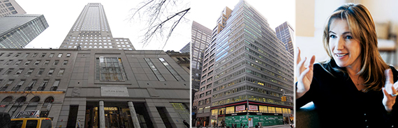 From left: 712 Fifth Avenue, 575 Madison Avenue and Douglas Elliman's Susan De Franca
