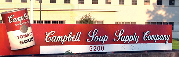 The Campbell Soup factory in Sacramento