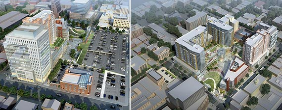 Renderings of Flushing Commons