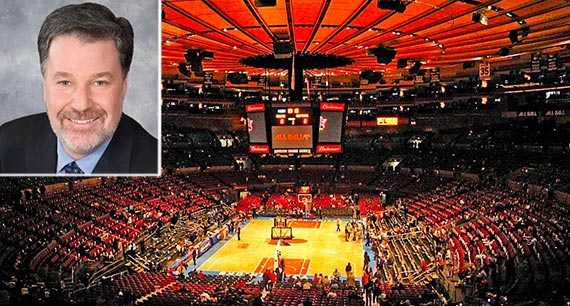 Hank Ratner (inset) and Madison Square Garden