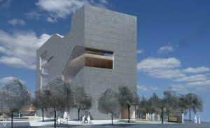This design for the Hunter's Point library has been scrapped for something less expensive