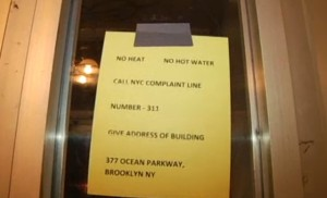 Notice at 377 Ocean Parkway