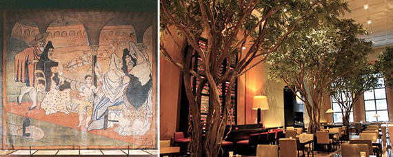 "From left: Picasso's ""Le Tricorne"" and the Four Seasons Restaurant"