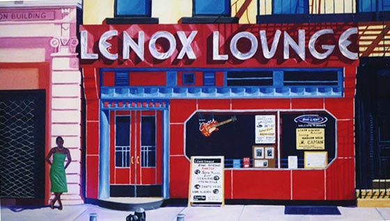 Painting of the Lenox Lounge's old locale at 288 Lenox Avenue