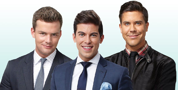 From left: MDLNY's Ryan Serhant, Luis Ortiz and Fredrik Eklund