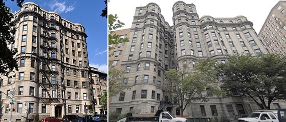 From left: 120 and 125 Riverside Drive