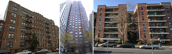 From left: 125 Brighton 11th Street, 15 Cliff Street and