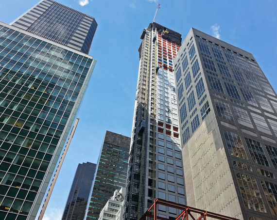 Construction at 432 Park Avenue