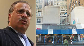 Joe Chetrit and 345-347 W. 34th St. (Credit: Google)